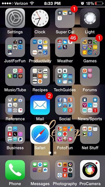 How to Organise my home screen - iPhone, iPad, iPod Forums