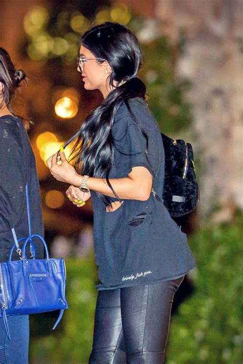 Kylie Jenner out in Los Angeles - Leather Celebrities