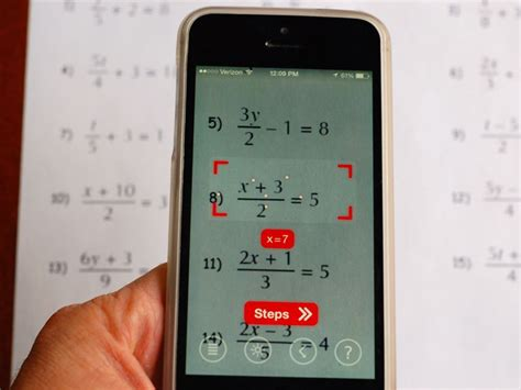 Use your phone's camera to solve equations with PhotoMath