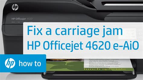 Fixing a Carriage Jam - HP Officejet 4620 e-All-in-One