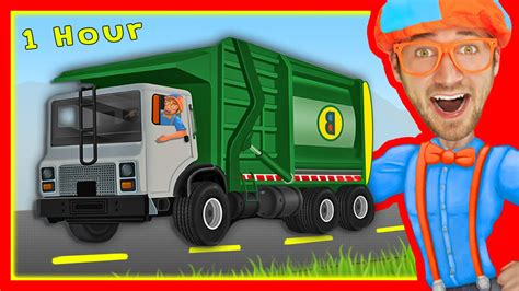 Explore Machines with Blippi | Garbage Trucks and More
