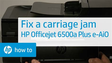 Fixing a Carriage Jam - HP Officejet 6500a Plus e-All-in
