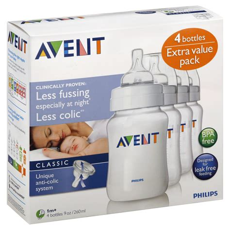 Philips AVENT 4-Pack Baby Bottles - 9 Ounces