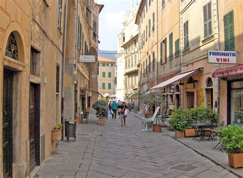 Finale Ligure The Old Town Centre (Liguria, Italy
