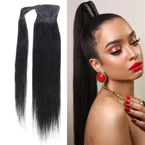 Remeehi Straight Clip In Ponytails Remy Human Hair 100G
